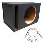 "Competition Single 18"" Mdf 1"" Wood Vent Subwoofer Sub Box Re Ma Massive Audio & Sub Wire Kit"