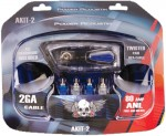 Power Acoustik AKIT-2 Complete Car Audio System Amplifier Installation Kit 2-Gauge with Power Wire