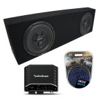 "Universal Regular Cab Truck Rockford R2SD2-10 Dual 10"" Black Sub Box R2-500X1"