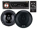 """Boss 655CK - 636CA CD/MP3 AM/FM Receiver Plus One Pair of Duo-Fit Speakers (may be used to replace existing 5.25"""" or 6.5"""" speakers)"""