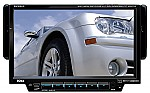 """Boss 7"""" Single DIN Drop-Down Motorized Touchscreen TFT Monitor Multimedia Receiver Full Detachable Front Panel USB/SD Card Slot Front Aux-In AM/FM/RDS Wireless Remote 85W X 4"""