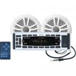 """Boss Audio MCK1315W.60 AM/FM Marine Mechless Receiver w/  Two 6.5"""" Speakers & Ipod(R) Control"""