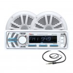 Boss Audio MCK1440W.6 Marine Mechless Receiver with USB Port & Front AUX Panel