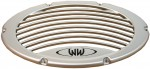 Marine Audio Boat Silver Subwoofer Grille Enclosure Box Vent Waves & Wheels MSG-S