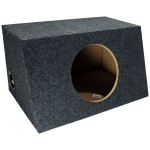 "Single 10"" Hatchback Subwoofer Box Sealed Enclosure (Gray)"