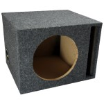 "Single 10"" Vented Subwoofer Box Enclosure (Gray)"