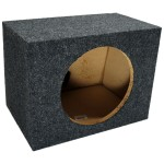"Single 10"" Rearfire Sealed Enclosure Subwoofer Box (Grey)"