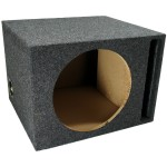 "Single 12"" Vented Sub Box Enclosure (Gray)"
