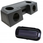 """Water Resistant ATV Front Guide Rail (4) 6 1/2"""" Speakers & Radio Speaker Audio Spray Cpated Box with Receiver Cover"""