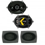"""Kicker DSC6804 6""""x8"""" DS-Series 2-Way Coaxial Speaker Package with Acoustic Baffle Pair"""