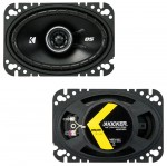 "Kicker Car Audio 43DSC4604 4""x6"" DS Series 25W RMS 4 Ohm Coaxial Car Audio Speakers - New"