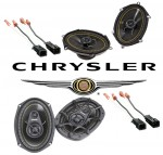 Kicker Package Chrysler Town & Country 1996-2002 DS680 & DS693 Coaxial Factory Upgrade Replacement Speakers