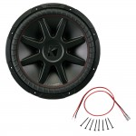 Kicker CVR15 15-Inch CompVR Series 2-Ohm DVC 500-Watt RMS Subwoofer with Installation Kit