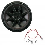 Kicker CVR15 15-Inch CompVR Series 4-Ohm DVC 500-Watt RMS Subwoofer with Installation Kit