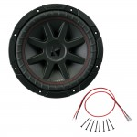 Kicker CVR10 10-Inch CompVR Series 2-Ohm DVC 400-Watt RMS Subwoofer with Installation Kit