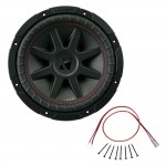 Kicker CVR10 10-Inch CompVR Series 4-Ohm DVC 400-Watt RMS Subwoofer with Installation Kit