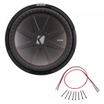 Kicker CWR15 15-Inch CompR Series 2-Ohm DVC 800-Watt RMS Subwoofer with Installation Kit