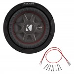 Kicker CWRT67 6.75-Inch CompRT Series 2Ohm DVC 150-Watt RMS Subwoofer with Installation Kit
