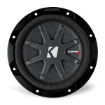 Kicker CWRT67 6.75 Inch CompRT Double Vented Subwoofer with 1 Ohm Dual Voice Coil (40CWRT671)