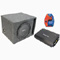 "Rockford Fosgate Single 12"" R1S412 Powered Vented Subwoofer Box w/ R150-2 Amplifier & 10 Gauge Amp Kit"